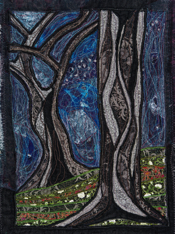 """Night Tree"" machine embroidery"